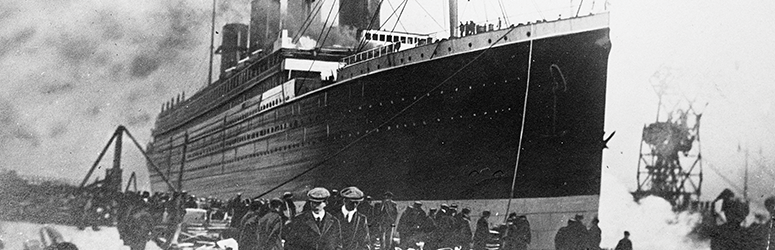 Titanic prepares to set sail.