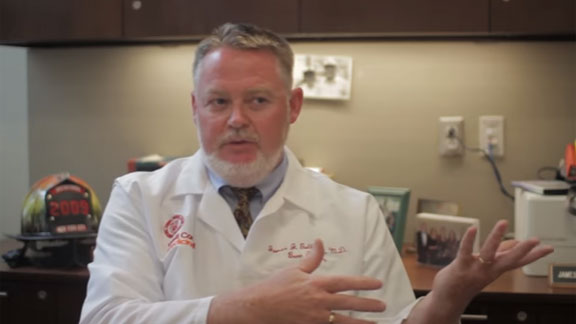 Dr. James Gallagher explains the devastation of a burn injury.