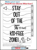 Featured item Kid-free zone marker
