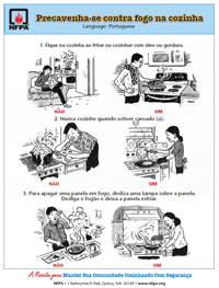 Cooking easy-to-read handout in Portuguese