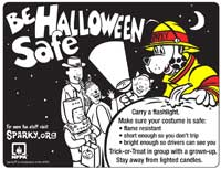 Featured item Sparky Halloween coloring sheet