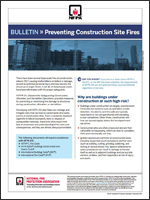 Featured item Bulletin: Preventing Construction Site Fires