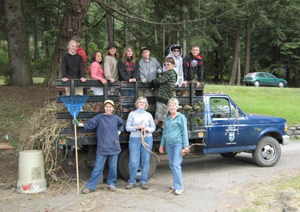 Youth helping to reduce wildfire