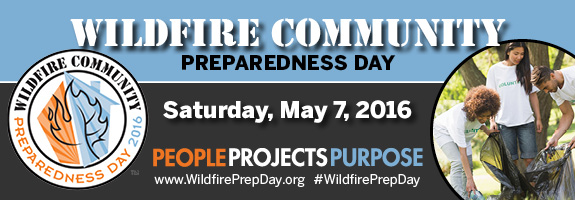 2016 Wildfire Community Preparedness Day Banner