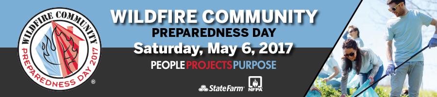 2017 Wildfire Community Preparedness Day banner