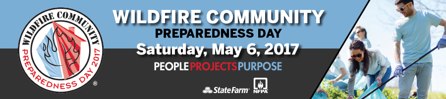 2017 Wildfire Community Preparedness Day banner
