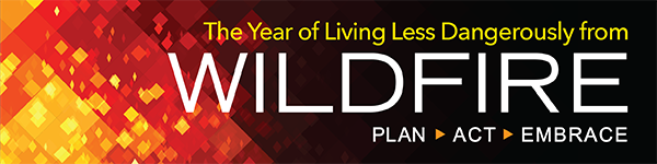 Year of Living Less Dangerously from Wildfires Banner