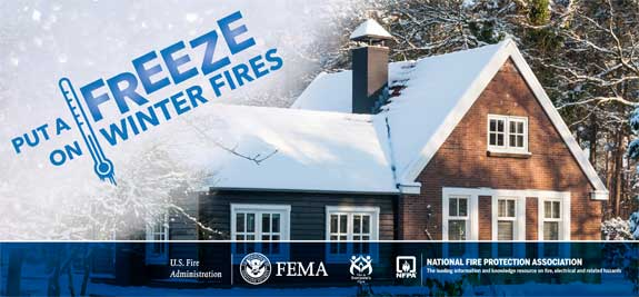 Put A Freeze on Winter Fires logo