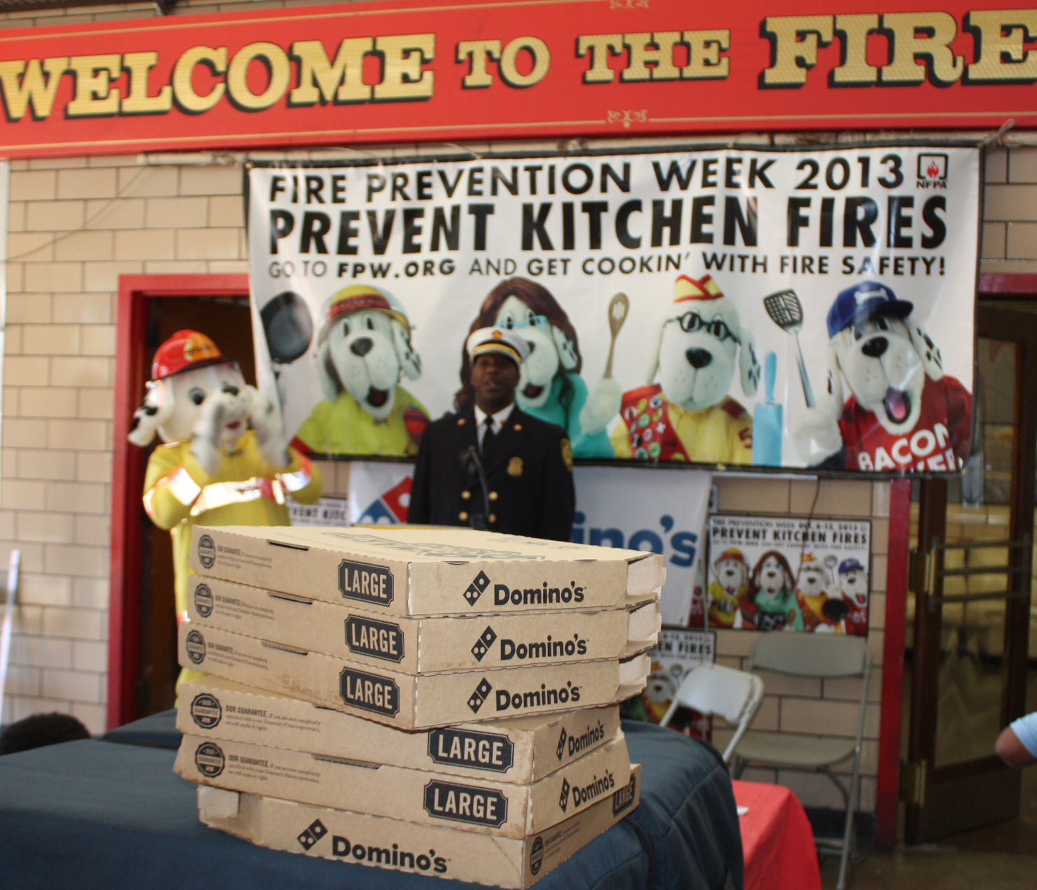 Dominos Kitchen domino's pizza® teams up with the national fire protection