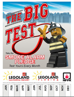 Legoland Smoke Alarm Pledge