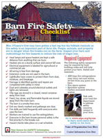 Barn fire safety checklist