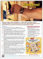 Featured item Electrical fires safety tip sheet