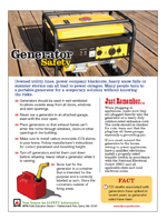 Featured item Generator safety tip sheet