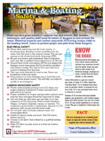 Featured item Marina and boating safety tip sheet