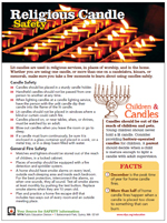 Featured item Religious candles safety tip sheet