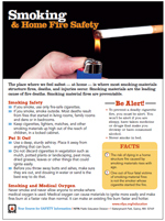 Featured item Smoking & Home Fire Safety Tip Sheet
