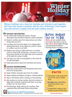 Featured item Winter holiday safety tip sheet