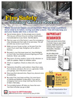 Featured item Winter storms safety tip sheet