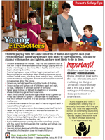 Young firesetters tip sheet