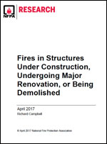 Featured item Fires in Structures Under Construction, Undergoing Major Renovation, or Being Demolished*