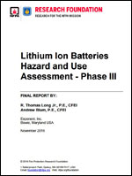 Featured item Lithium Batteries Hazard and Use Assessment - Phase III