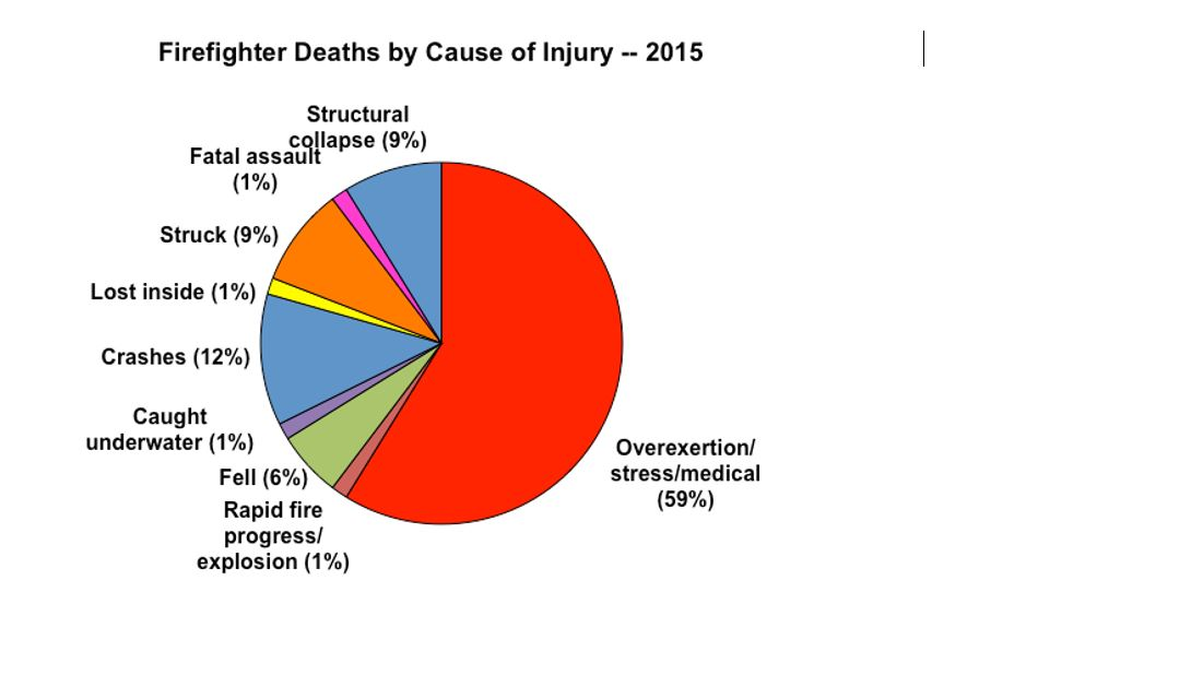 Firefighter deaths by cause of injury - 2015